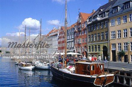 Denmark, Copenhagen, Nyhavn harbour