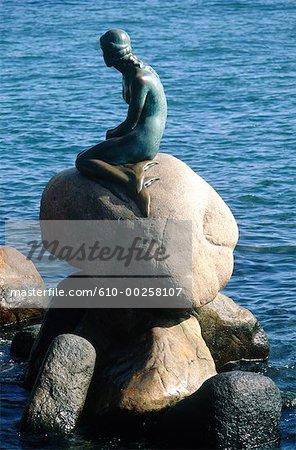 Denmark, Copenhagen, the Little Mermaid