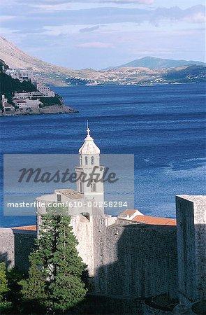 Croatie, Dubrovnik, vue sur les remparts