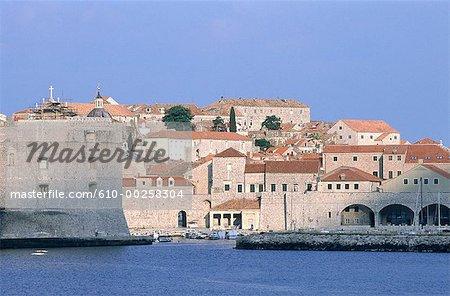 Croatie, Dubrovnik, de Saint-Jean forteresse et port