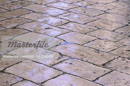 Croatia, Dubrovnic, wet pavement on the main street (Stradun)
