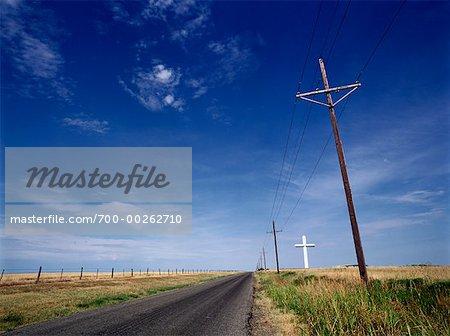 Route de croix sur Horizon Groom, Texas USA
