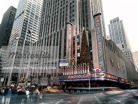 Radio City Music Hall à Noël New York City, New York, États-Unis
