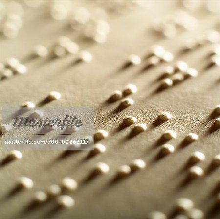 Gros plan du Braille
