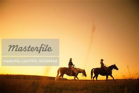 Couple équitation