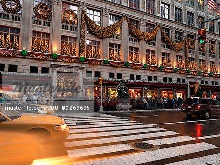 Saks Fifth Avenue at Christmas New York, New York, USA