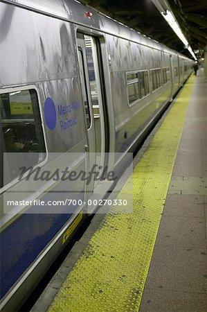Subway at Platform New York City New York, USA
