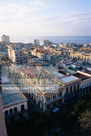 Vue d'ensemble de la ville de la Havane Cuba