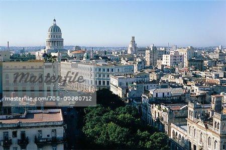 Overview of City Havana Cuba