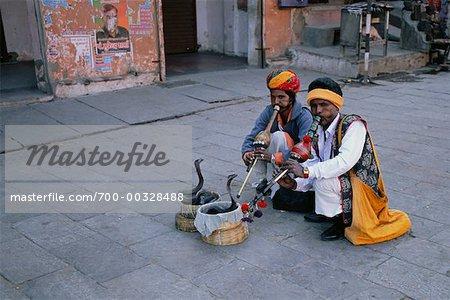 Charmeurs de serpent, Rajasthan, Inde