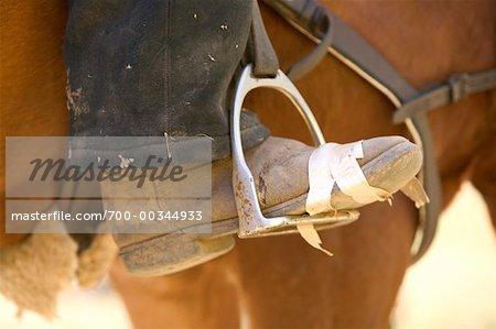 Close-up of Foot in Stirrup