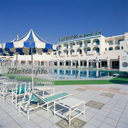 Hôtel et piscine Hammamet, Tunisie, Afrique