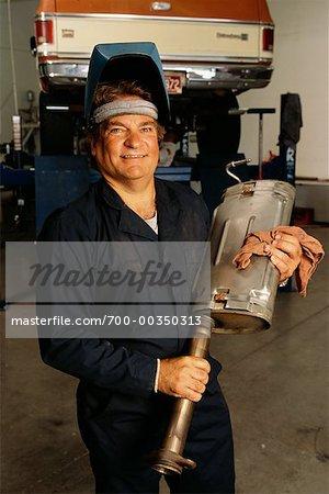 Porträt von einem Mechaniker
