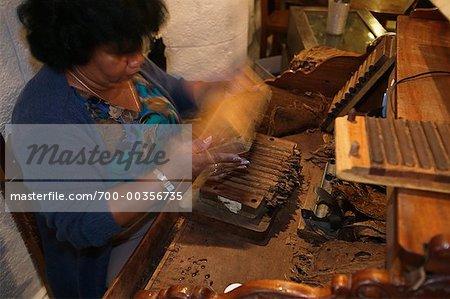 Woman Making Cigars Havana, Cuba
