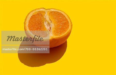 Close-Up of Half an Orange