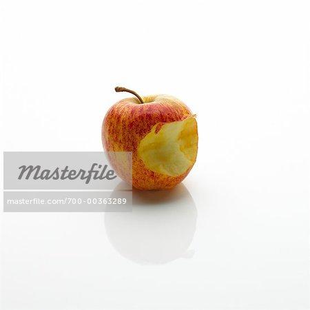 Apple avec une morsure prise hors de lui
