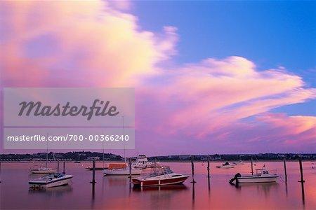 Boats at Edgartown Harbor Martha's Vineyard Massachusetts, USA