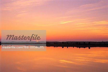 Lever du soleil à la lagune Cape Poge Bay, Chappaquiddick Island, Martha s Vineyard Massachusetts, Etats-Unis