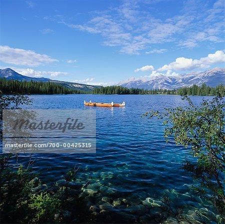 Lac Beauvert, Jasper National Park, Alberta, Canada