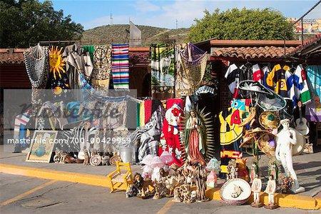 Marché par les USA et la frontière entre le Mexique, Tijuana, Mexique