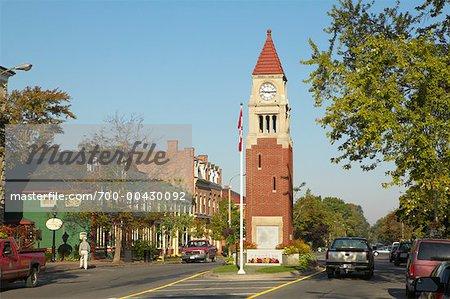 Tour de l'horloge sur Queen Street, Niagara-On-The-Lake, Ontario, Canada