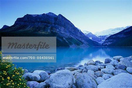 Lake Louise at Dusk, Banff National Park, Alberta, Canada