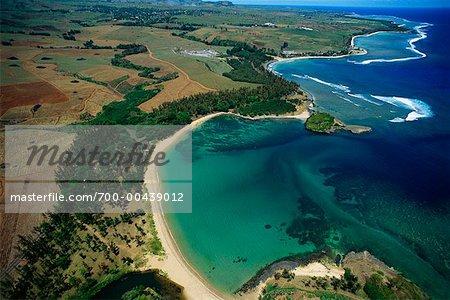 Aerial View of Coast, Mauritius