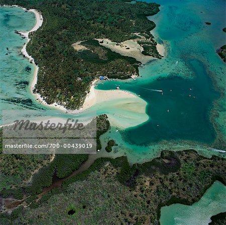Aerial View of Isle aux Cerfs, Mauritius