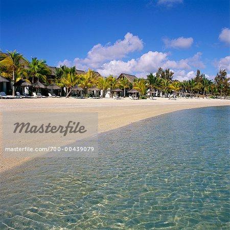 Plage de l'océan Indien Le Touessrok Resort, Ile Maurice,