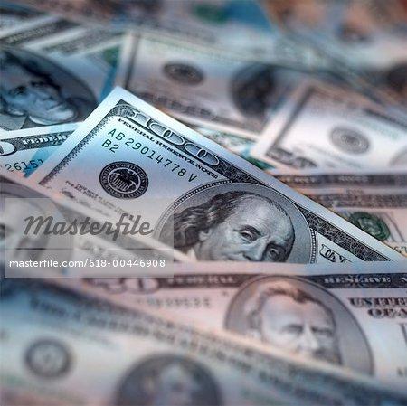 Tableau des billets d'un dollar assortis
