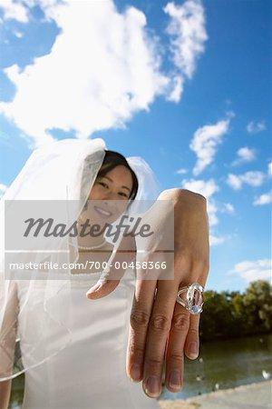 Bride Showing Wedding Ring