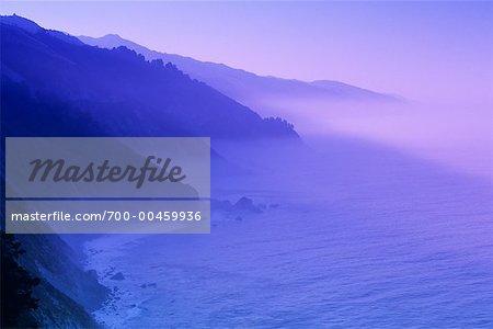Littoral de la Californie au lever du soleil, USA
