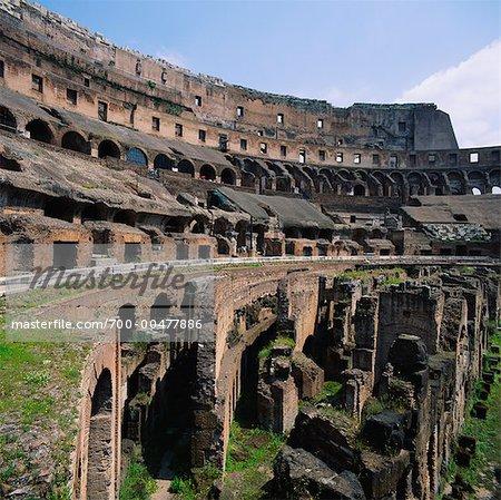 Interior of The Colosseum, Rome, Italy