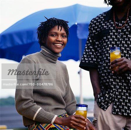 Porträt einer Frau trinken
