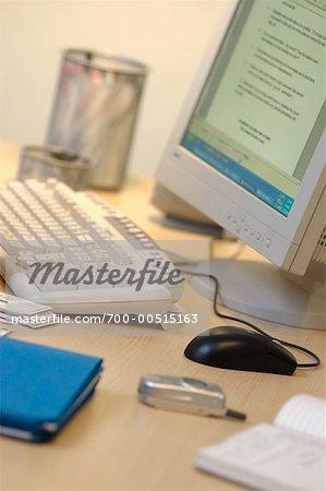 Close-Up of Office Desktop