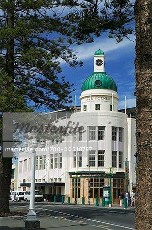 T et G bâtiment à coupole, Napier, Bay, Nouvelle-Zélande Hawke