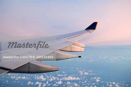 Airbus A340 at Dawn