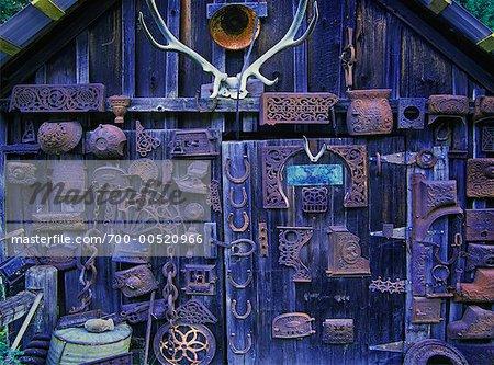 Baraque dans l'historique ville de Sandon, Colombie-Britannique, Canada