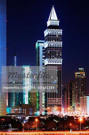 La tour et Dubaï, Dubaï, Émirats Arabes Unis
