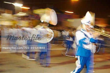 Marching Band, Mardi Gras, New Orleans, Louisiana, USA