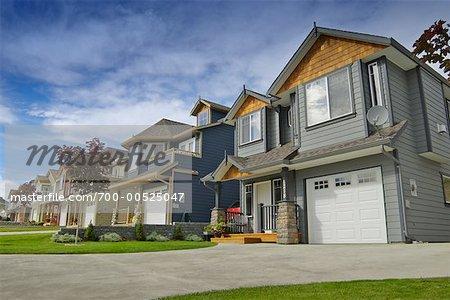 Quartier résidentiel, Kamloops, Colombie-Britannique, Canada