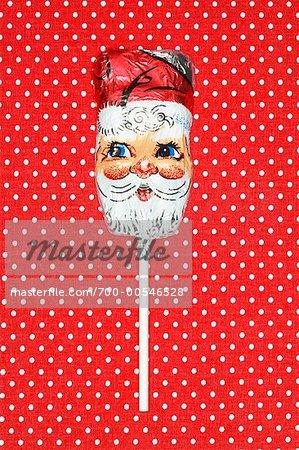 Santa chocolat sur un bâton
