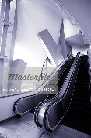 Escalator, Walt Disney Concert Hall, Los Angeles, California, USA