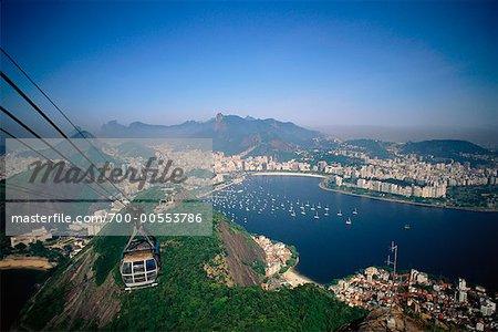Cable Car Klettern Sugar Loaf Mountain, Rio De Janeiro, Brasilien, Südamerika