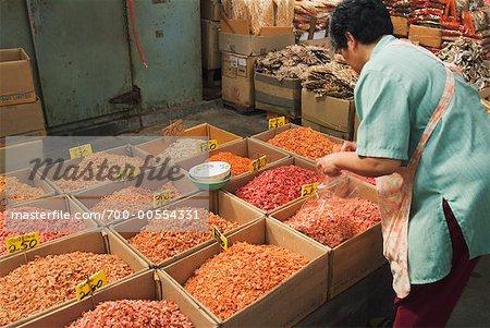 Femme dans le marché, Bangkok, Thaïlande