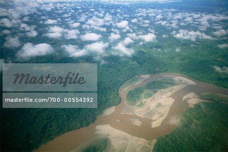 Luftbild des Amazonasbeckens, Ecuador