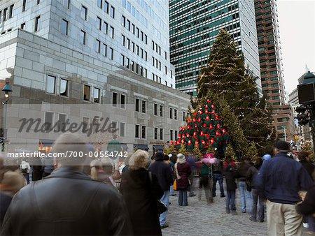 Arbre de Noël à City Square, New York City, New York, USA