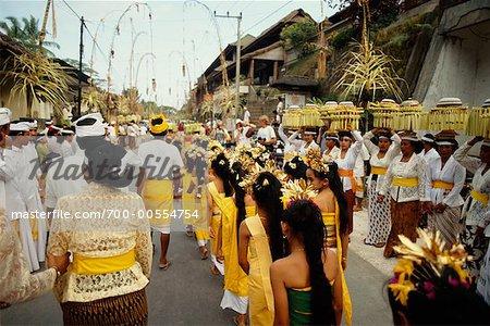 Umzug durch Street, Bali, Indonesien