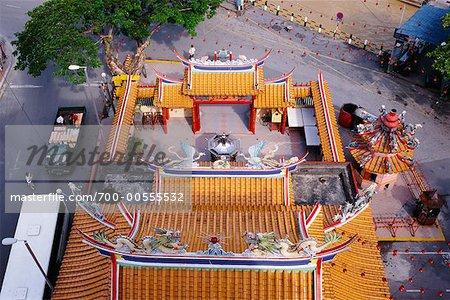 Vue d'ensemble des Tua Pek Kong Temple, Sibu, Sarawak, à Bornéo, Malaisie