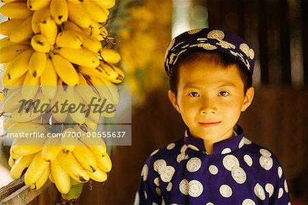 Portrait de garçon, mon Tho, Vietnam